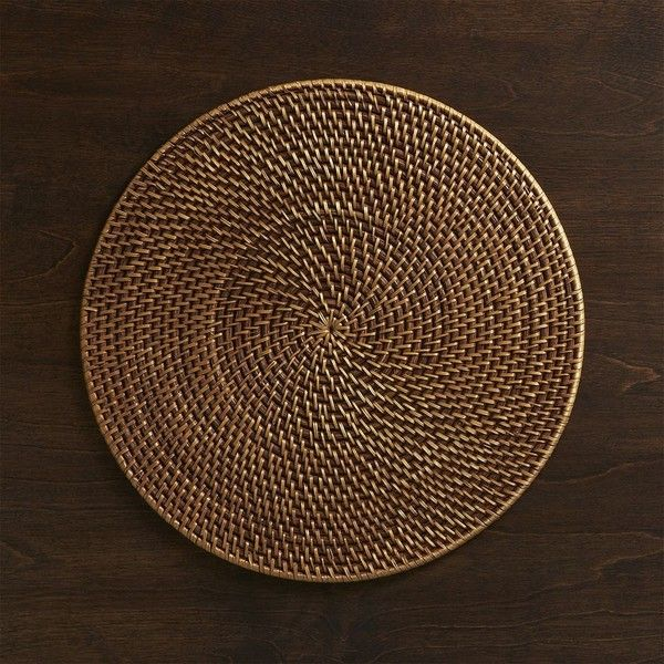 Crate Barrel Artesia Round Rattan Placemat 1 435 Liked On
