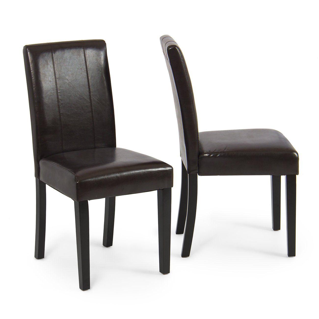 Belleze Elegant Kitchen Dinette Dining Room Chair Design Leather Backrest Set Of 2 Brown You Can Find Out More De Dining Chairs Dining Room Chairs Furniture