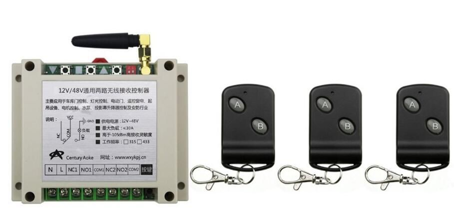 Click To Buy Dc12v 24v 36v 48v 10a 2ch Rf Wireless Remote Control Switch Transmitter With Two Button Receiver For Appli Remote Control Transmitter Remote