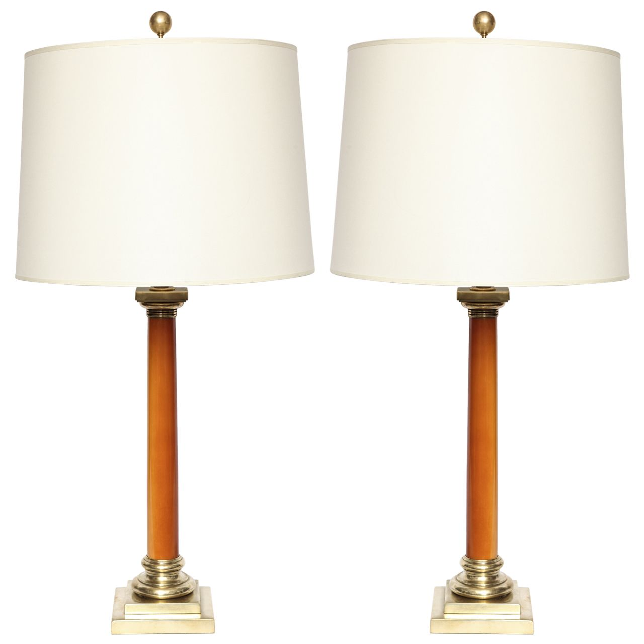 A Pair Of 1930 S Classical Modern Art Deco Table Lamps