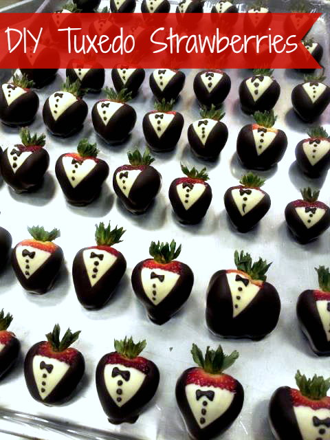 How to make tuxedo strawberries diy wedding strawberries - Sassydeals com ...