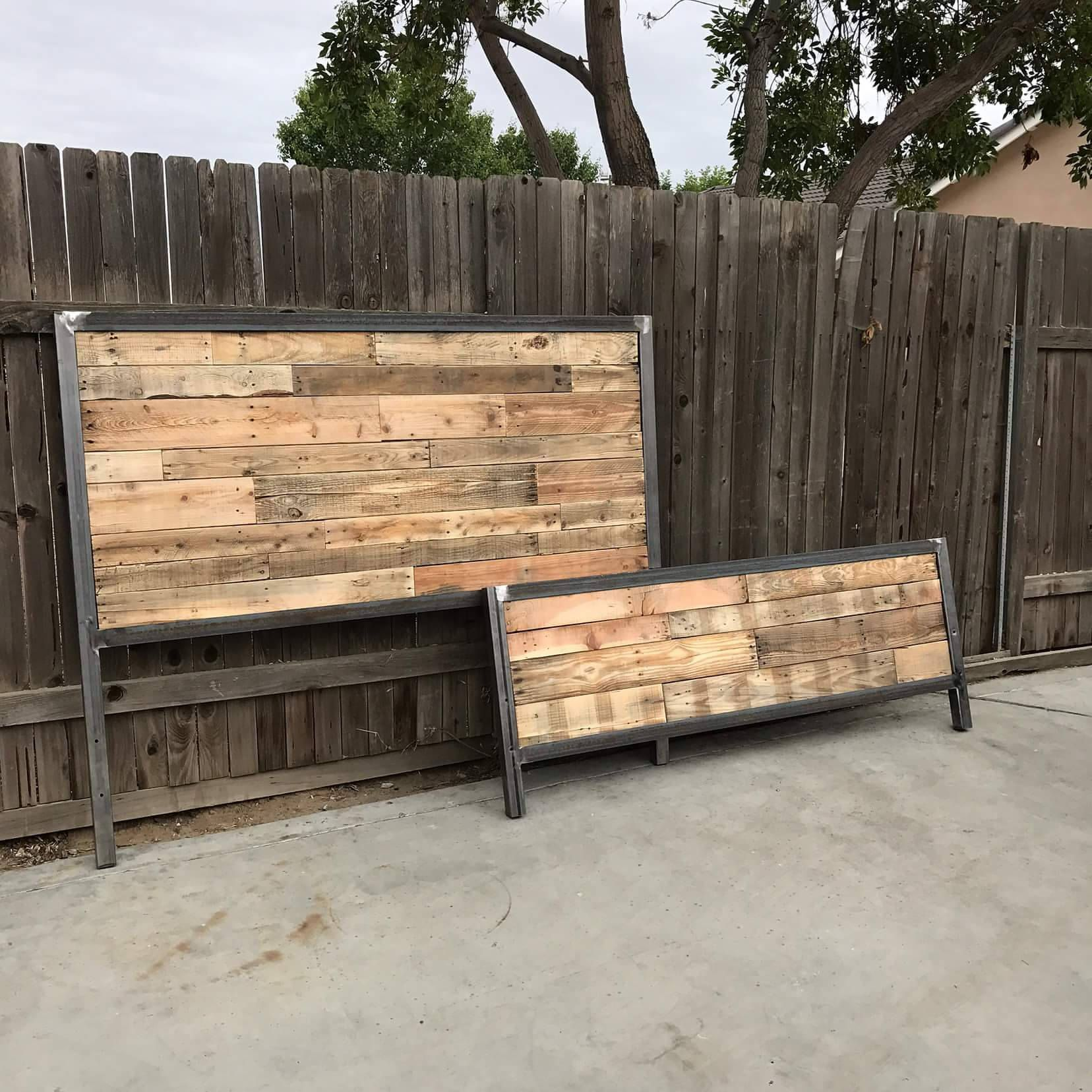 Ready In 1 Week Industrial Style Reclaimed Wood Bed In 2020