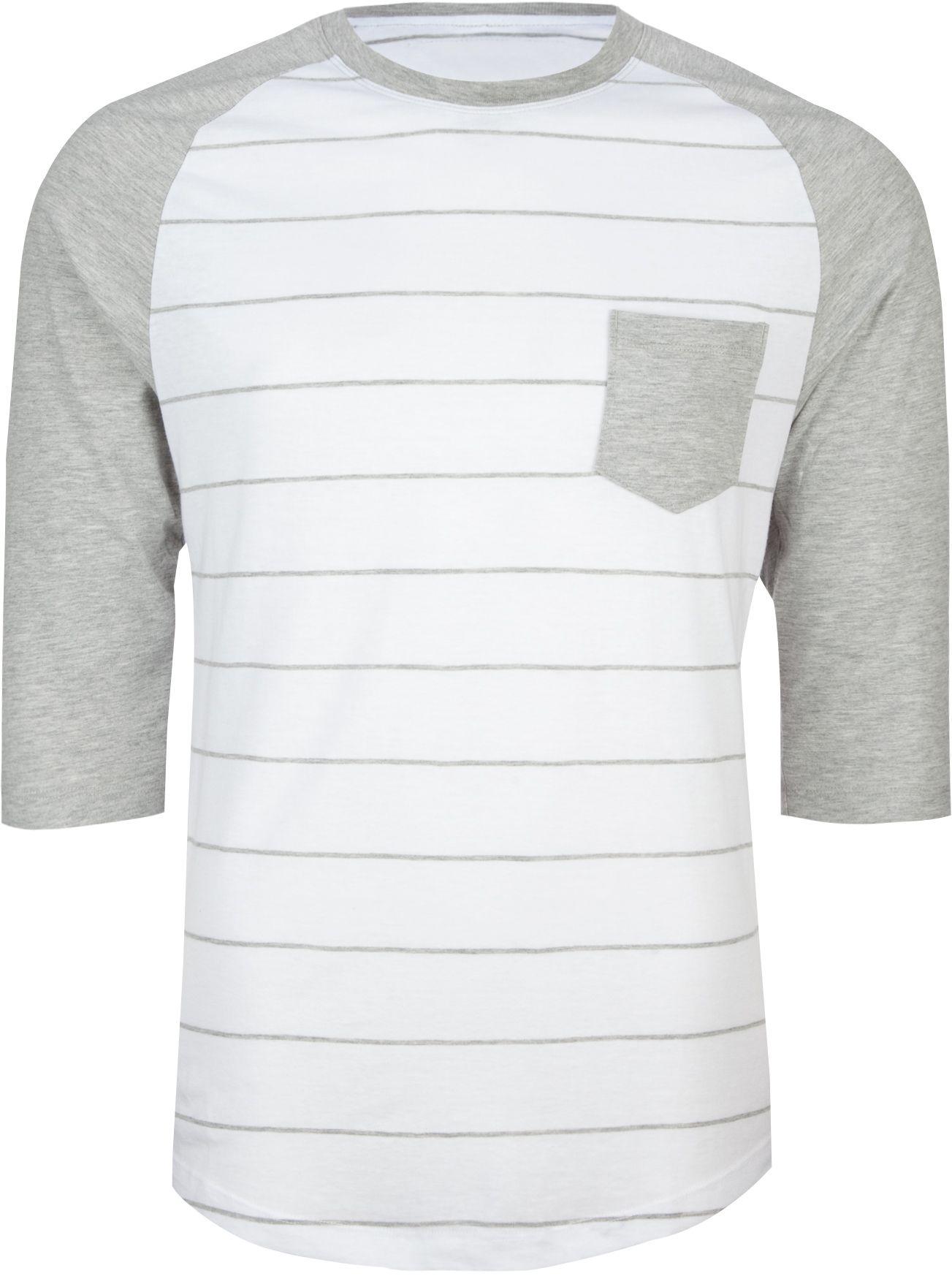 RETROFIT Stripe Raglan Mens Baseball Tee 201601210  7a151c10ed9