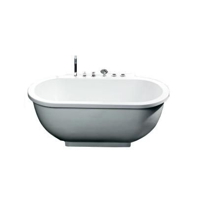 6 foot whirlpool tub standard everclean ariel ft whirlpool tub in whiteam128jdclz the home depot 701 in center drain oval apron front bathtub
