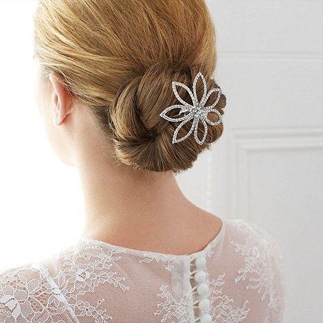 Jon Richards Crystal Flower Comb Available At Debenhams 15 Wedding Hair Accessories Hair Comb Wedding Bridal Hair Accessories