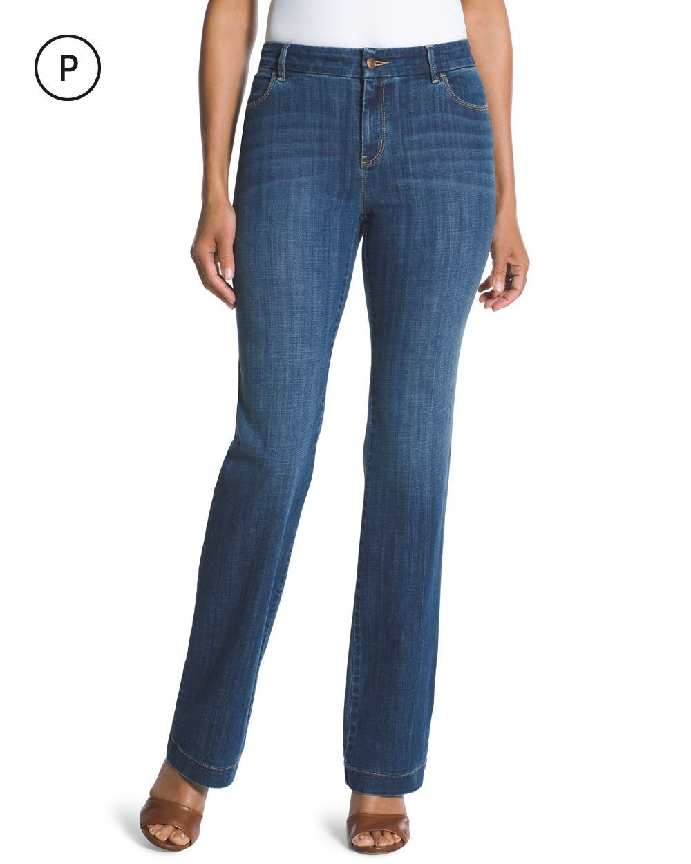 Chico's Women's Platinum Petite Trouser Jeans - Broek jeans, Jeans ...