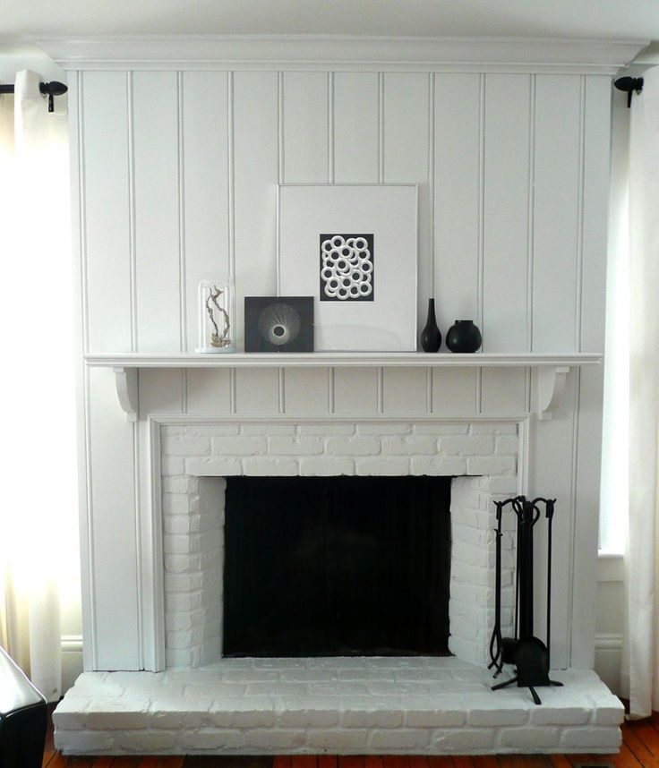 Image Result For Vertical Shiplap Fireplace White Brick Fireplace Fireplace Remodel Cottage Fireplace