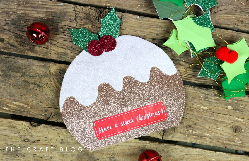 Advent Calendar Day 6 Christmas Pudding Card Shape With Free Template Christmas Christmas Pudding Christmas Advent