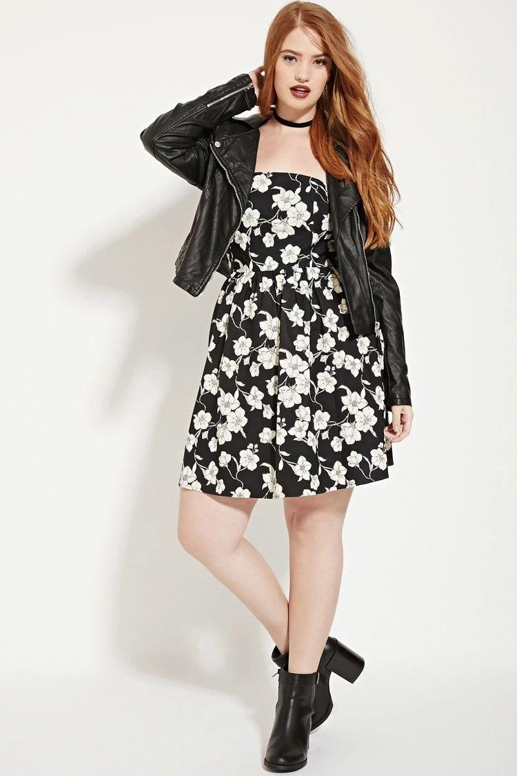8cd4bce0e4d Plus Size Pleated Floral Dress  forever21plus