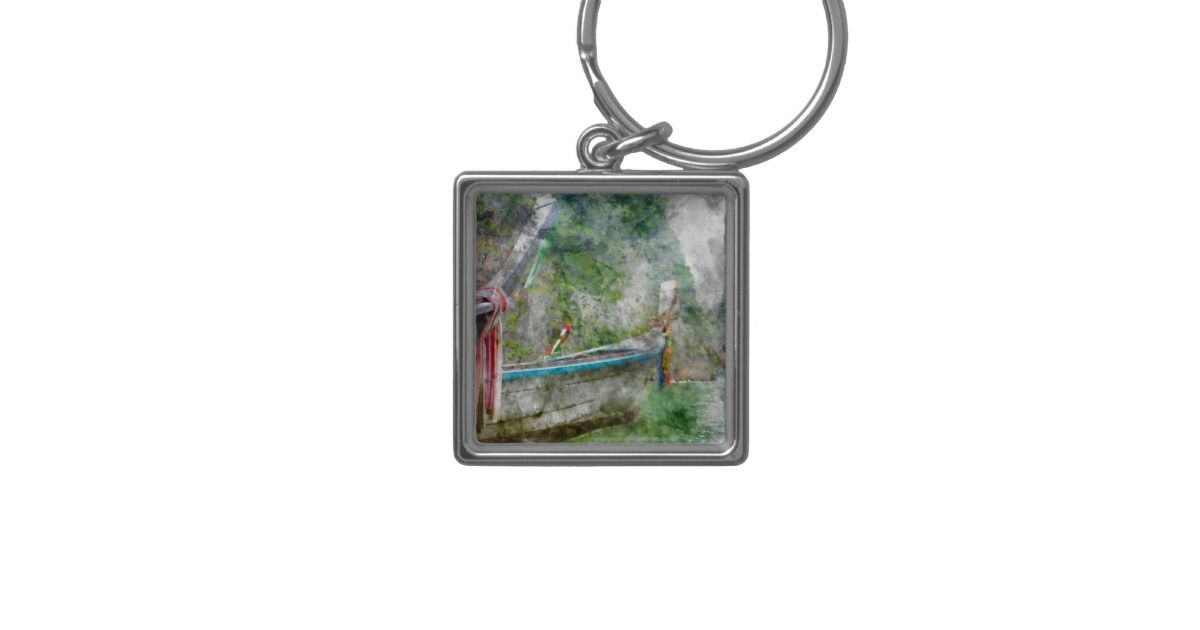 Traditional Long Boat in Thailand Keychain Collectible Keycahins. Keychain Gift Idea. Gift idea for new car.