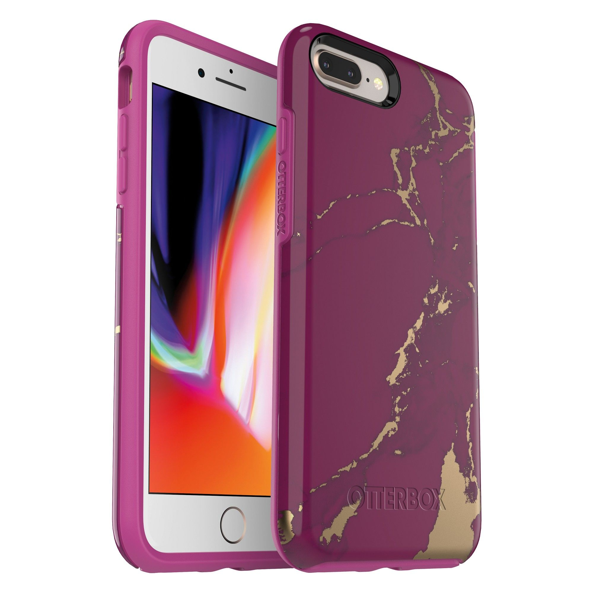 Otterbox Apple Iphone 8 Plus 7 Plus Case Symmetry Purple Marble Iphone Cases Otterbox Apple Phone Case Black Phone Case
