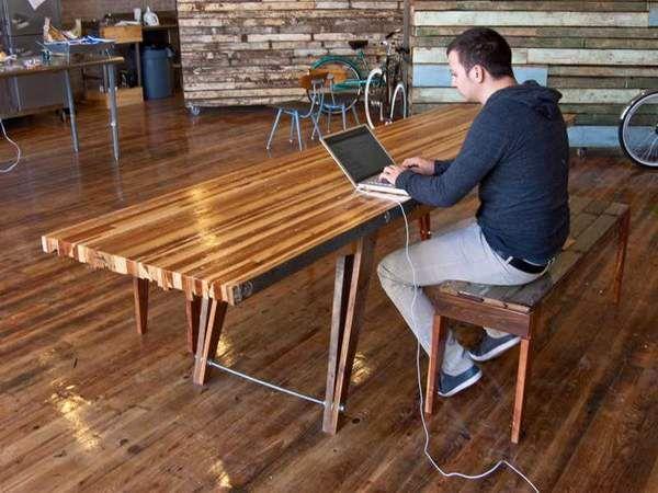 Tischplatte selber bauen  Tisch aus Altholz | Diy | Pinterest | Altholz, Tisch und Holz