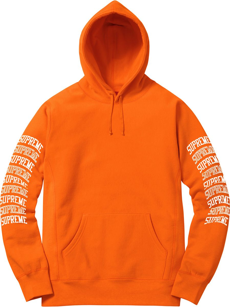 df300b2ff Supreme Sleeve Arc Hooded Sweatshirt | Playing with Placement ...