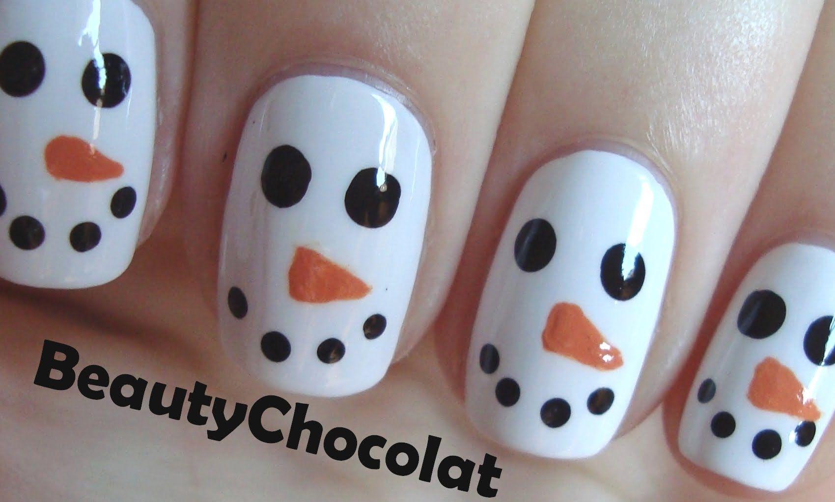Maxresdefault Jpg 1700 1022 Christmas Nails Easy Snowman Nail Art Nails For Kids