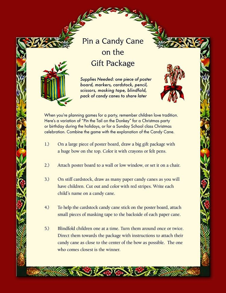 Pin the candy cane pdf Candy cane, Candy cane game