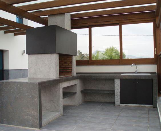 Galer a chimeneas carmelo blanco barbacoa moderna for Casa moderna quincho
