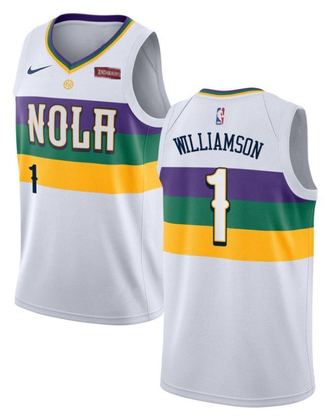 Men S New Orleans Pelicans 1 Zion Williamson White City Edition Nike Swingman Stitched Nba Jersey With Images Jersey Nba Jersey New Orleans Pelicans