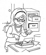Dia De La Secretaria Para Colorear Nocturnar School Secretary Coloring Pages School Coloring Pages