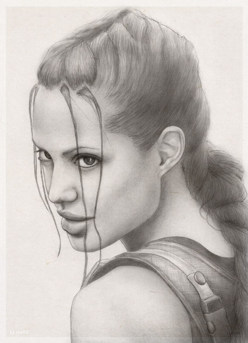 3db909bf Lara Croft AJ portrait by redfill.deviantart.com Lara Croft Angelina Jolie,  Tomb