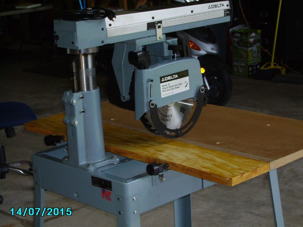 Delta Deluxe Radial Arm Saw 33 990 10 Rare New Old Stock 2hp Automatic Brake Radial Arm Saw Seeing 33 Saw