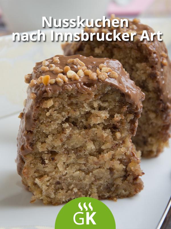 Nusskuchen nach Innsbrucker Art Wer Nusskuchen mag wird dieses Rezept aus dem schönen Innsbruck lieben Der Kuchen schmeckt flaumig und nussig