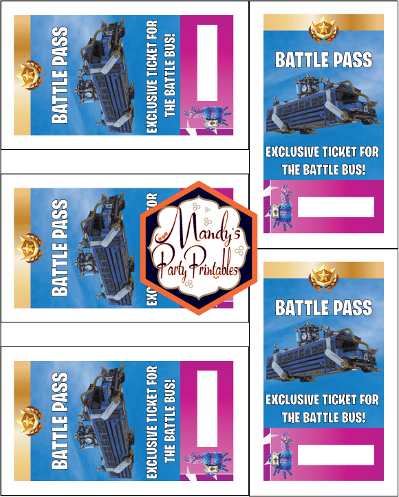 Free Printable Fortnite Battle Pass Lanyard Mandy S Party Printables Birthday Party Printables Free 10th Birthday Parties Party Printables
