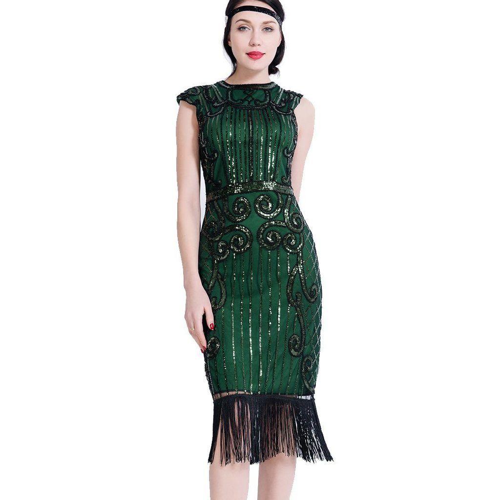 Green Gatsby Dress Downton Abbey Speakeasy Charleston 1920 S Party Jaoswish Gatsby Dress Charleston Dress 1920s Flapper Dress [ 1024 x 1024 Pixel ]