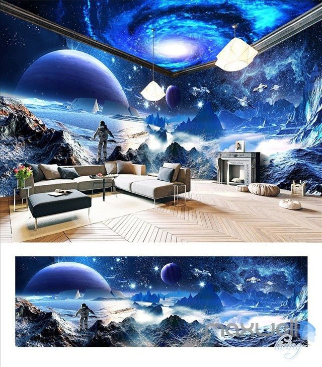 999AUD - Star Wars Space Planet Galaxy Entire Room 3D Wallpaper