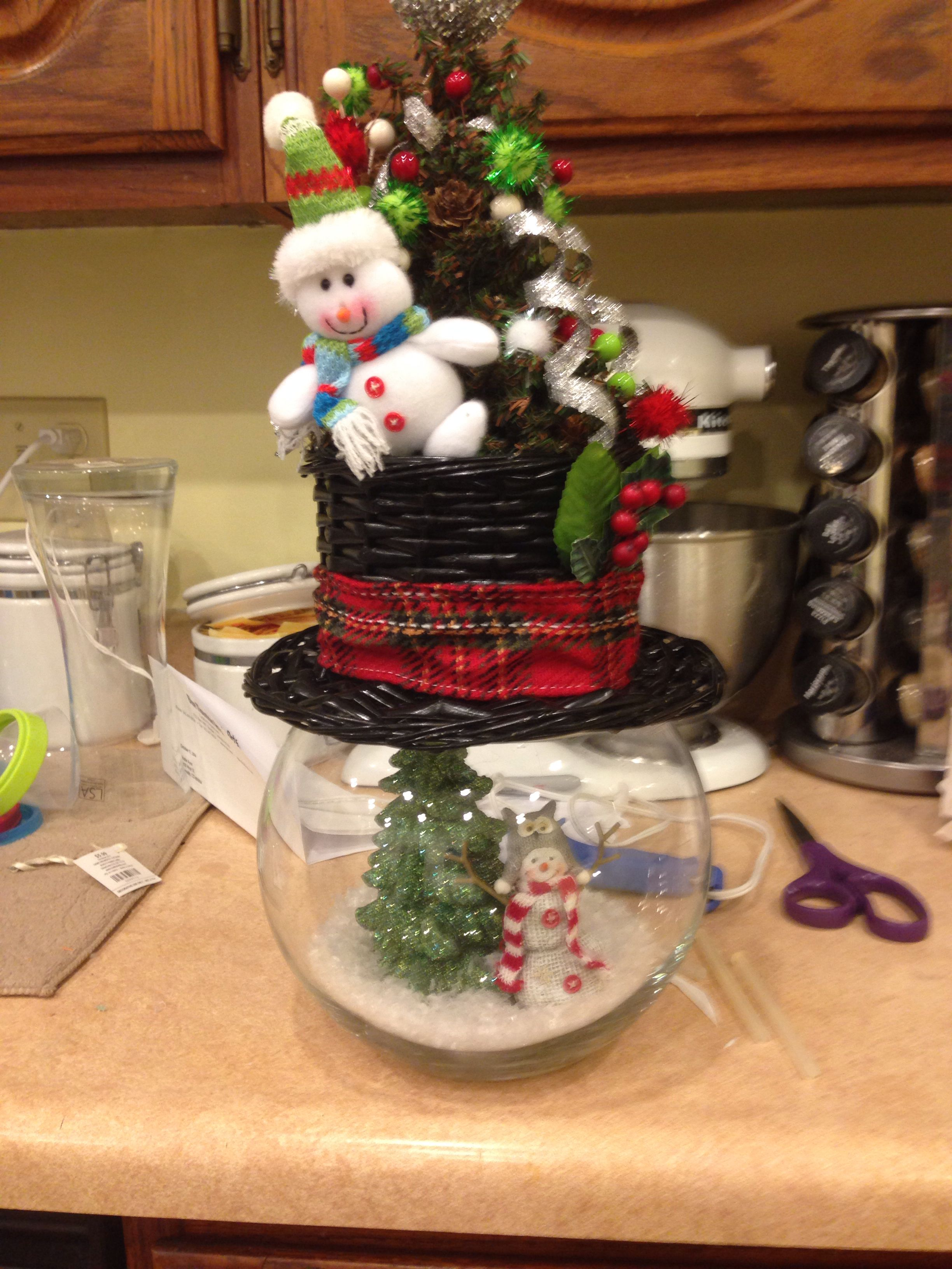 Snowman hat centerpiece, I need to go back and get another