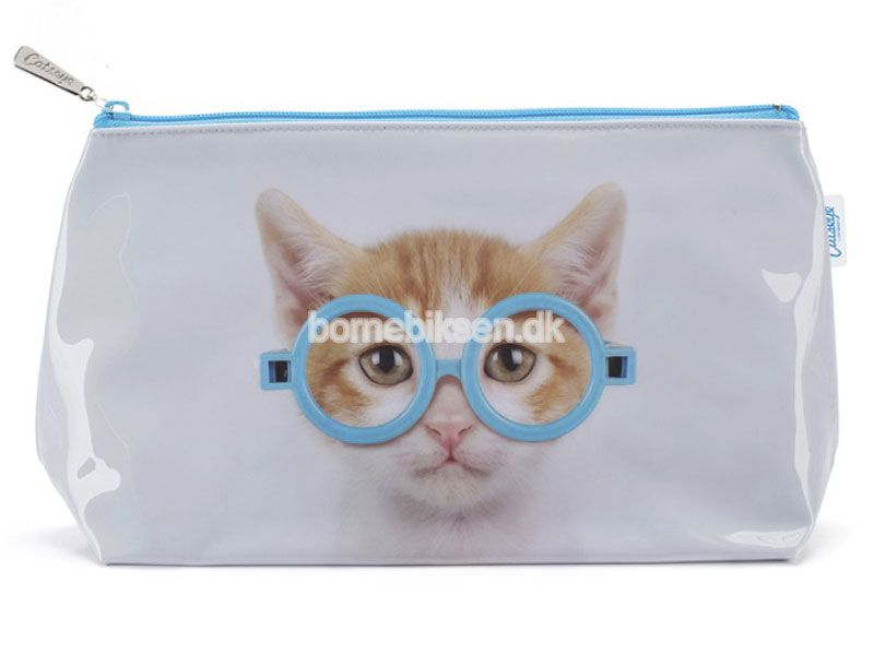 Køb stor Catseye toilettaske, blå kat her - til en skarp pris