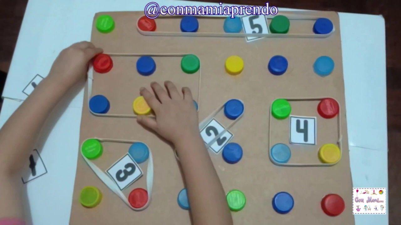 Juego para estimular la atención y concentración con material casero