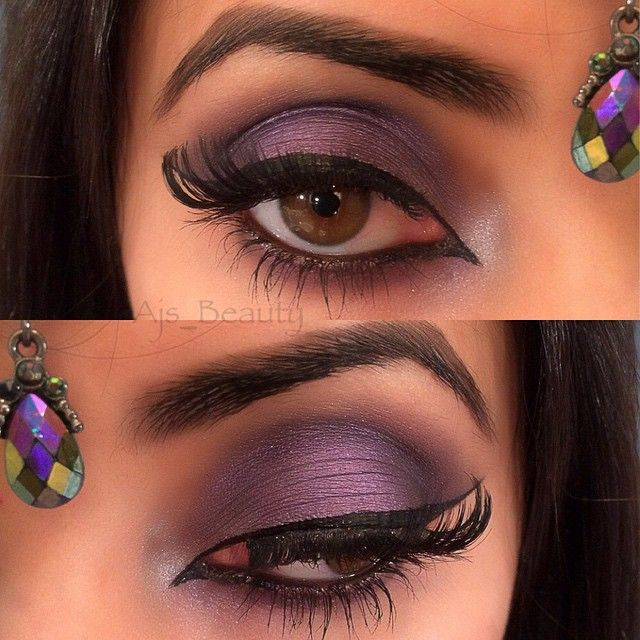 """Arabian Amethyst  Used all @mbacosmetics Eyeshadows for this look they are so pretty and very pigmented .. Eye lid - Bella and Ameythst  Outer Corner -…"""
