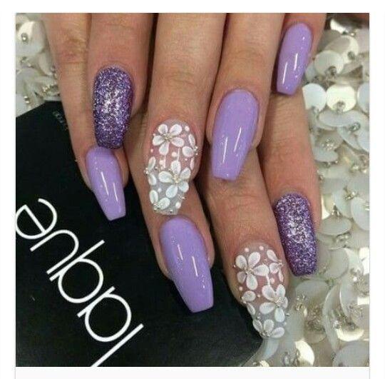 lilla viola glitter fiori