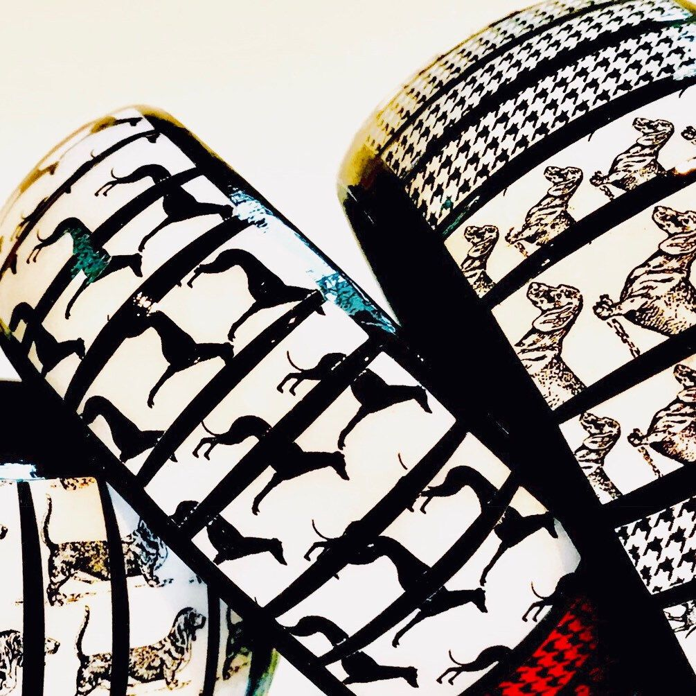 Hounds & Houndstooth Bangles 🐾🐾 Special Gift for Women Who Love Dogs ❤️ #Dogs #Houndstooth #Jewelry