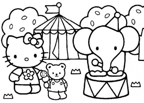 Free Printable Baby Hello Kitty Coloring Pages For Kids Picture 13 550x393 Picture Hello Kitty Coloring Hello Kitty Colouring Pages Kitty Coloring