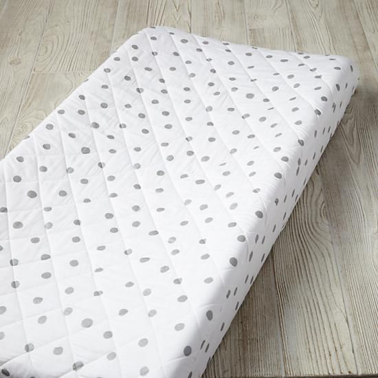 Silver Dot Changing Pad Cover  | The Land of Nod