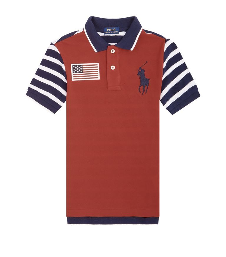 a8fecc44 Children: T-Shirts Ralph Lauren Striped Big Polo Pony Polo Shirt ...