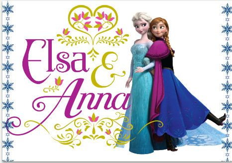anna and elsa frozen | this custom created line of frozen wall