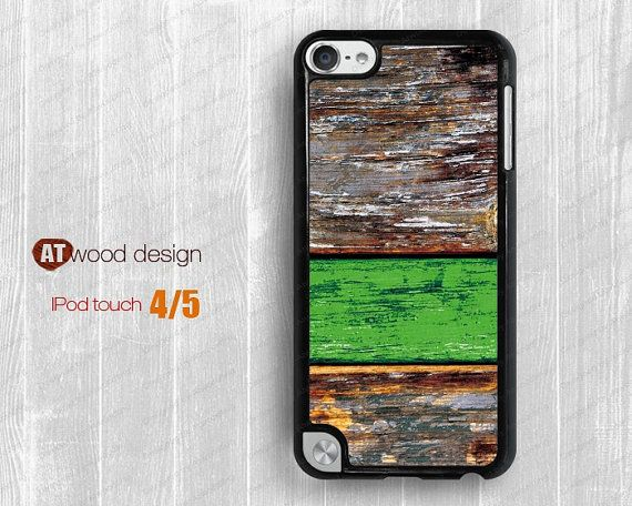 IPod case ipod 4 case  ipod  5 case green wood ipod  by Atwoodting, $7.99