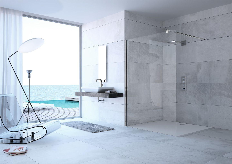 Komfortabel Und Grosszugig Walk In Duschen In 2020 Badezimmer Innenausstattung Modernes Badezimmerdesign Duschdesigns