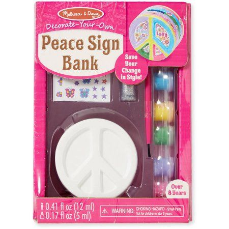 Melissa Doug Decorate Your Own Peace Sign Bank Craft Kit