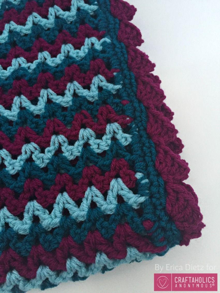 Easy Crochet Baby Blanket | Crochet patrones, Manta y Ganchillo