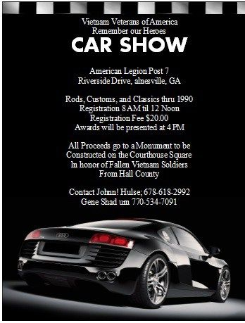 Car Show Flyer  Stationary Templates    Flyer Template
