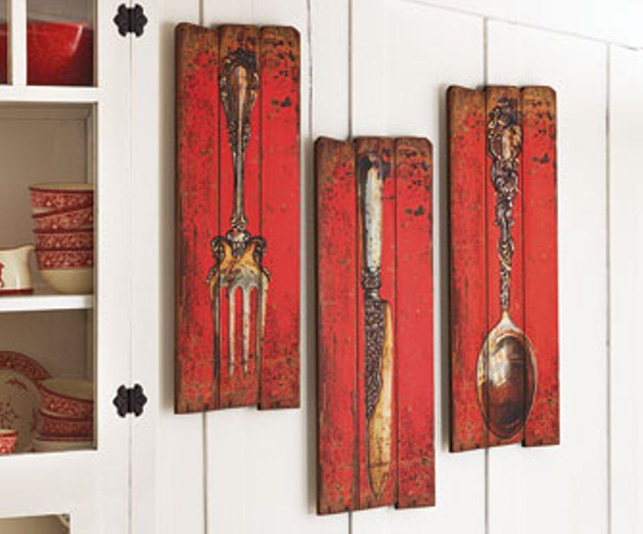 Kitchen spoon and fork wall decor