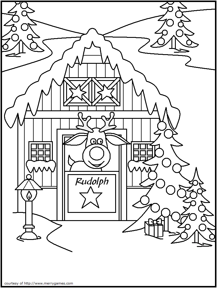 FREE Printable Christmas Coloring Pages Reindeer For