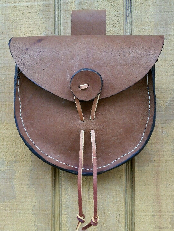 Details About Black Powder Shooters Rosette Leather Belt