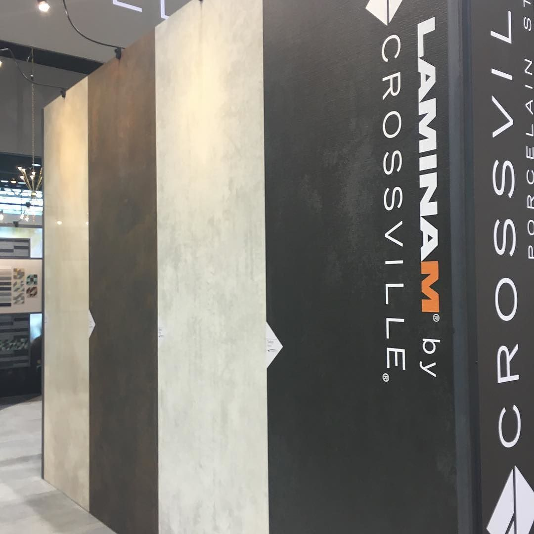 #coverings2016 is on! If you're at the show see us at booth 7306. Lots of cool tile--like these large #porcelain #tile panels. / #tiles #tiled #tilework #interior #interiors #interiordecor #interiordesign #interiordesigner #idcdesigners #walltiles #ihavethisthingwithtiles #tileaddiction #tilelove #coverings by crossvilleinc