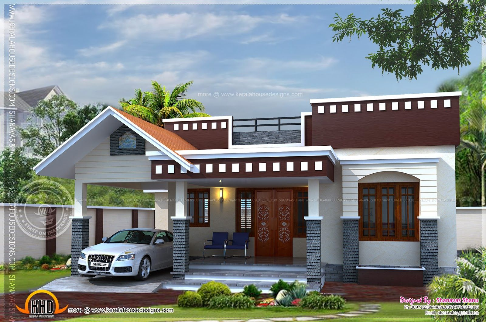 Home plan small house kerala home design floor plans floor for Small contemporary house plans in kerala