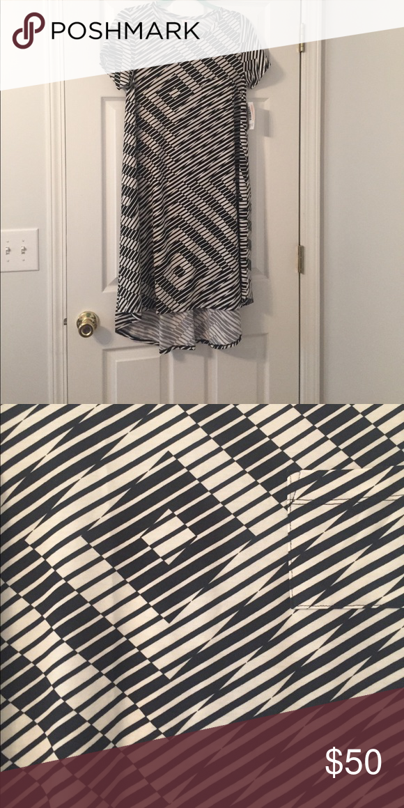 Black and White Carly Brand new! Fun pattern, just not me. Great for black and white lovers! LuLaRoe Dresses