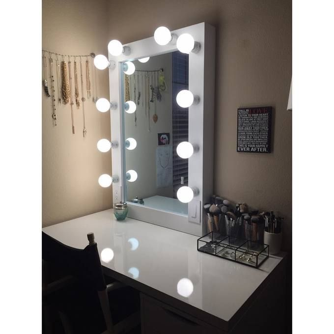 Vanity mirror I built for my girlfriend to celebrate our anniversary